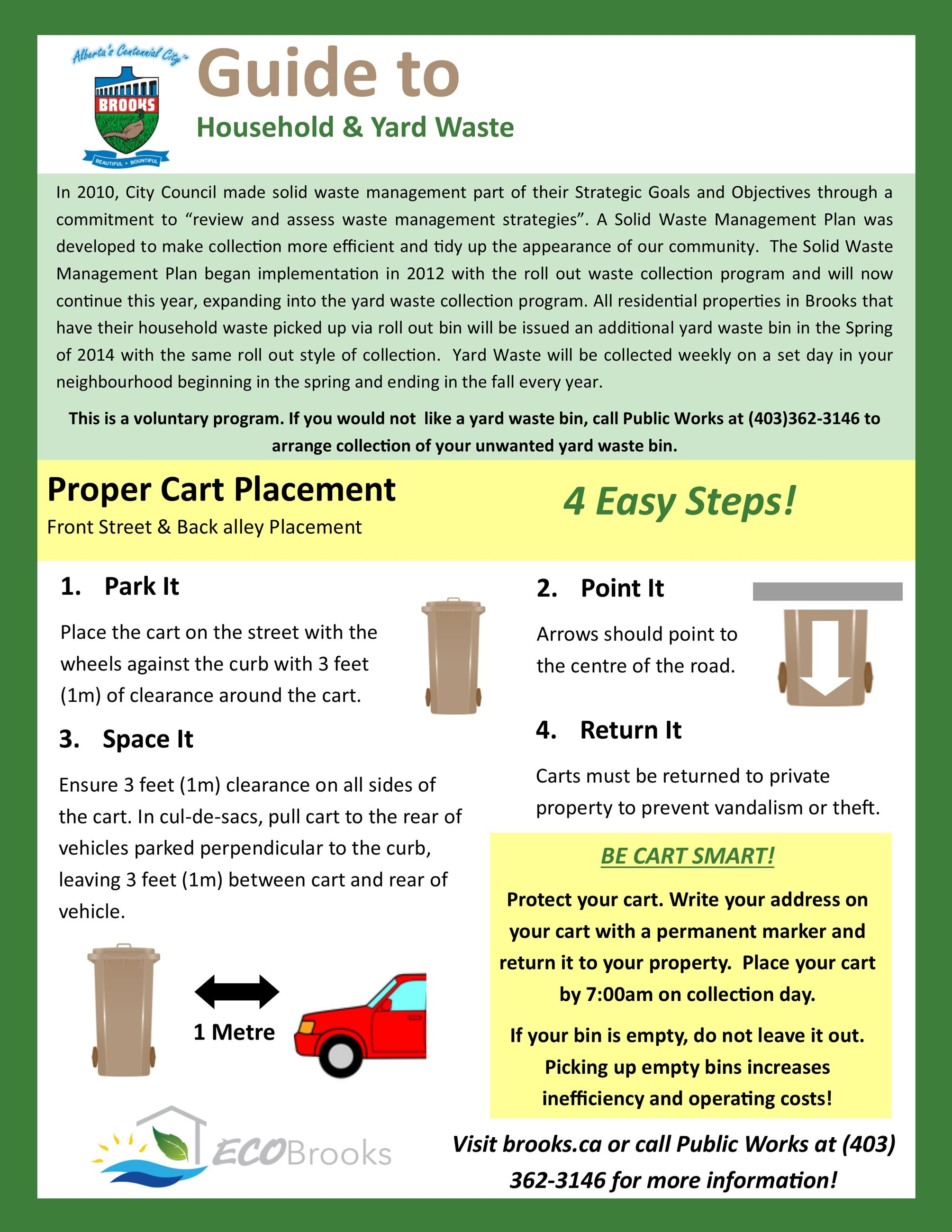 Yard Waste Bin Information