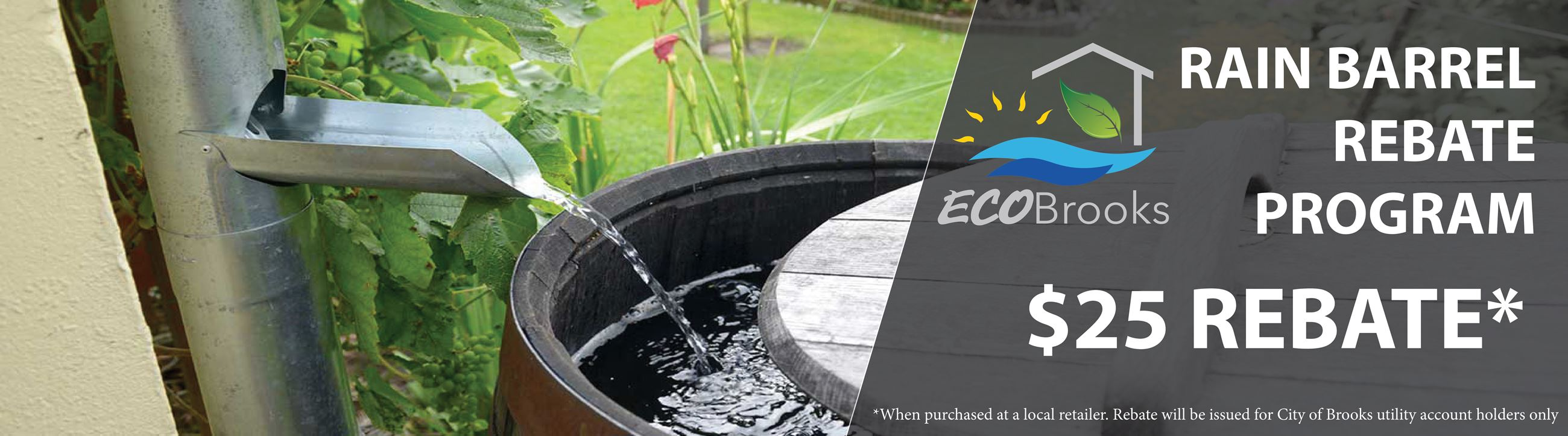 Rain barrel rebate