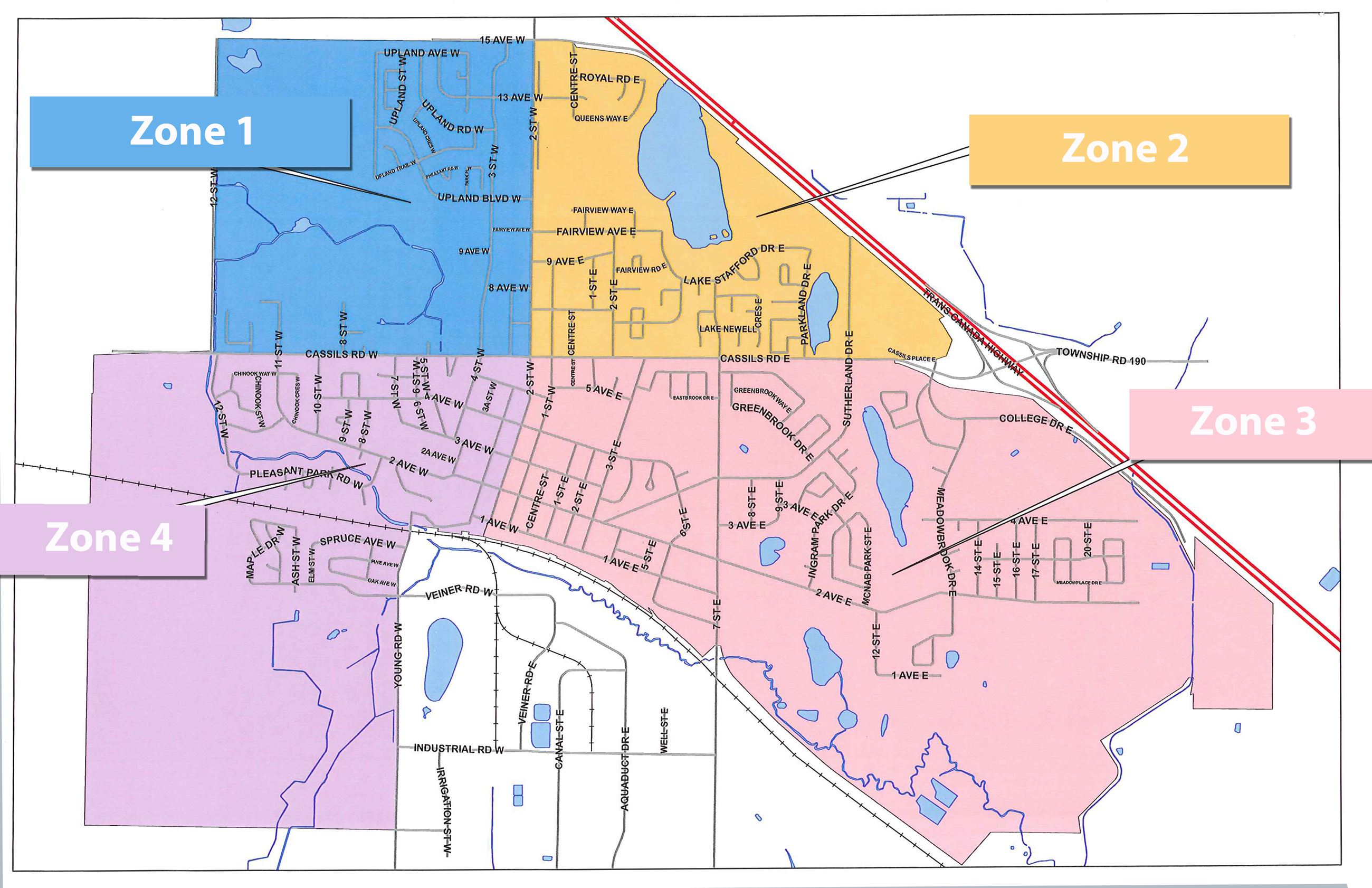 Street Sweeping zone map
