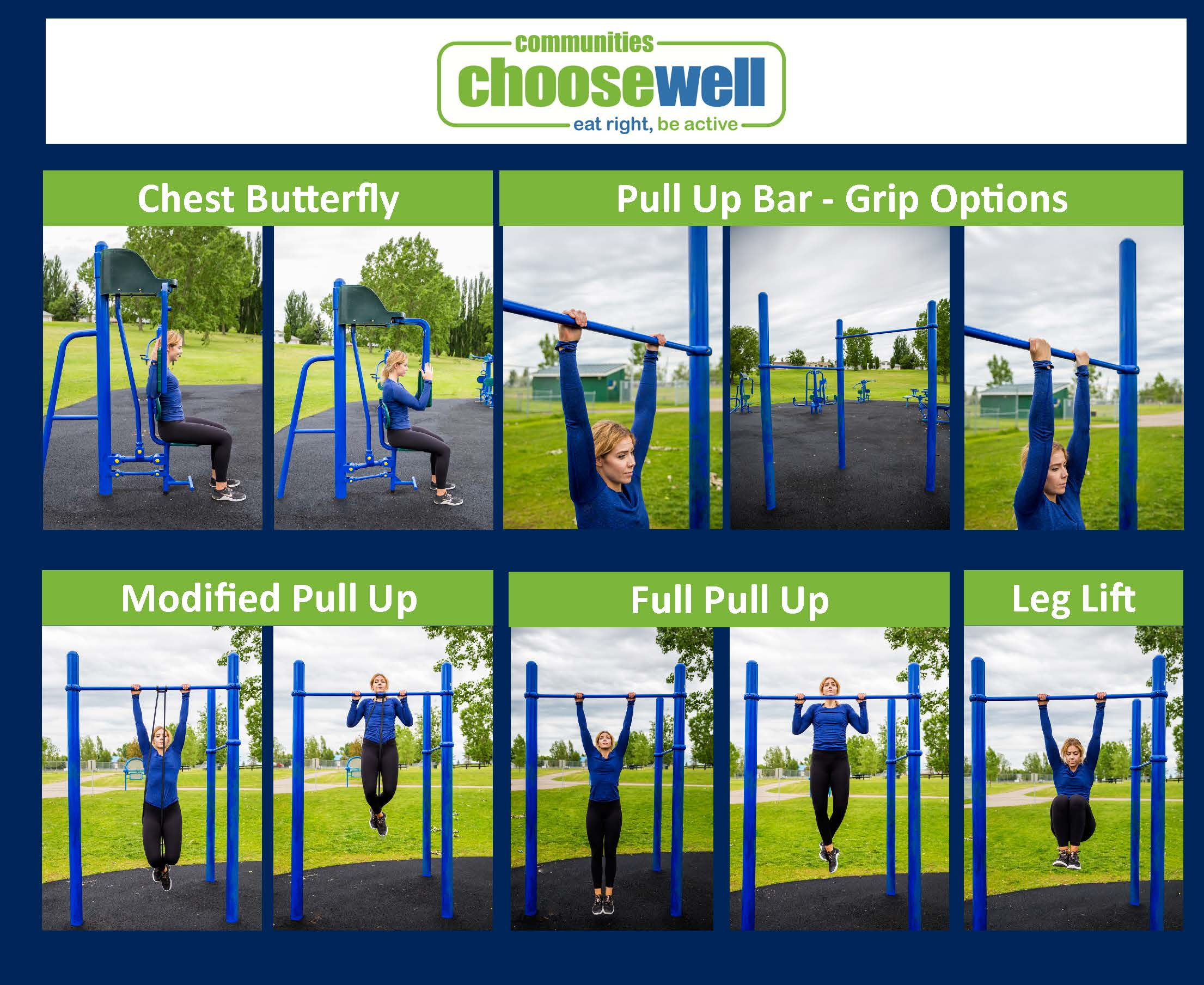Collage of Chest Butterfly and Pull Up Bar with grip and use options