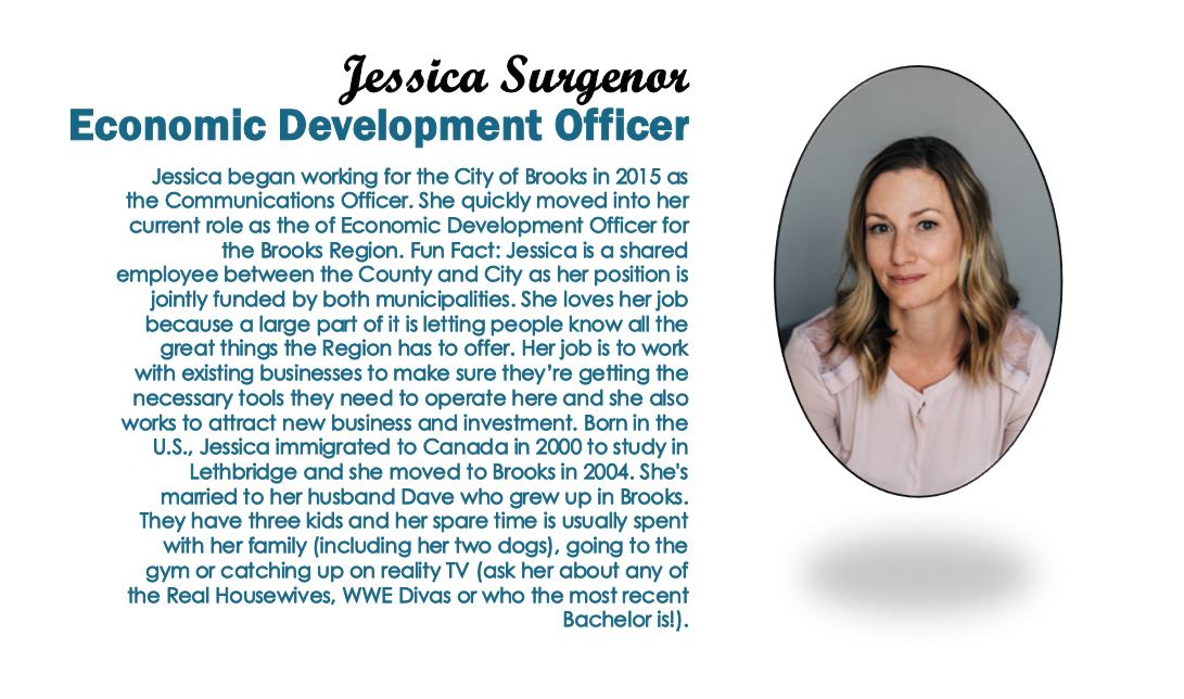 Description and image of Jessica Surgenor, Economic Development Officer