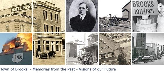Town of Brooks, Memories From the Past, Visions of Our Future a collage of historical images