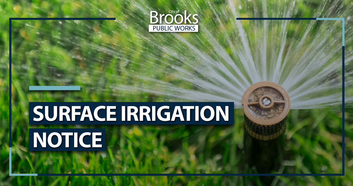 2021 Surface Irrigation Notice