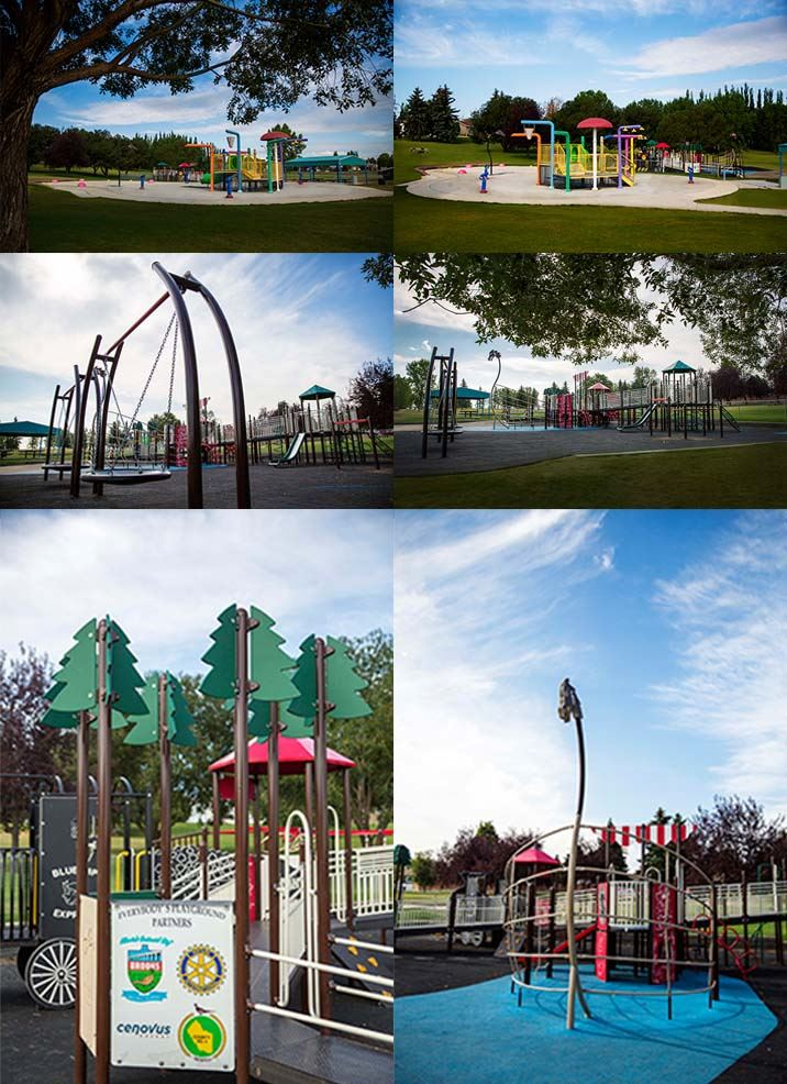 Collage of Duke of Sutherland park and amenities